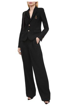 Женский шерстяной жакет SAINT LAURENT черного цвета, арт. 649550/Y1B47 | Фото 2