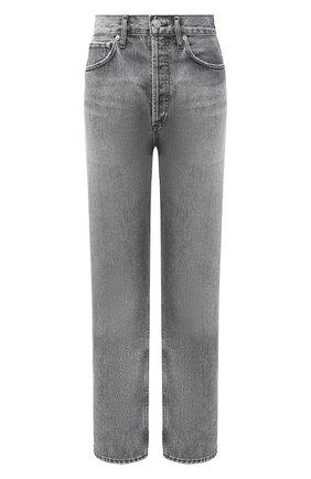 Женские джинсы AGOLDE серого цвета, арт. A154-1207 | Фото 1 (Материал внешний: Хлопок; Длина (брюки, джинсы): Стандартные; Силуэт Ж (брюки и джинсы): Бойфренды; Стили: Кэжуэл; Кросс-КТ: Деним)