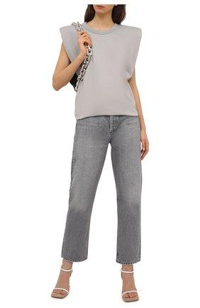 Женские джинсы AGOLDE серого цвета, арт. A154-1207 | Фото 2 (Материал внешний: Хлопок; Длина (брюки, джинсы): Стандартные; Силуэт Ж (брюки и джинсы): Бойфренды; Стили: Кэжуэл; Кросс-КТ: Деним)