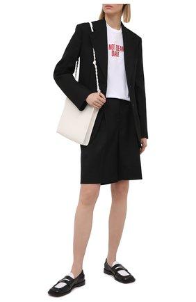 Женская хлопковая футболка DSQUARED2 белого цвета, арт. S72GD0298/S23009 | Фото 2