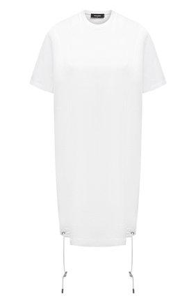 Женское хлопковое платье DSQUARED2 белого цвета, арт. S75CV0395/S23009 | Фото 1
