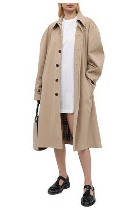 Женское хлопковое платье DSQUARED2 белого цвета, арт. S75CV0395/S23009 | Фото 2