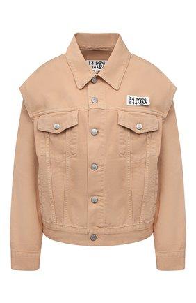 Женская джинсовая куртка MM6 бежевого цвета, арт. S62AN0048/S30653 | Фото 1