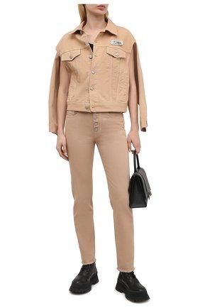Женская джинсовая куртка MM6 бежевого цвета, арт. S62AN0048/S30653 | Фото 2