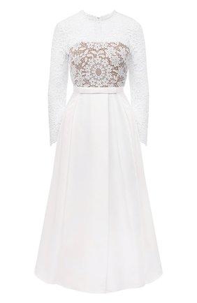 Женское платье SELF-PORTRAIT белого цвета, арт. SS21-093M | Фото 1