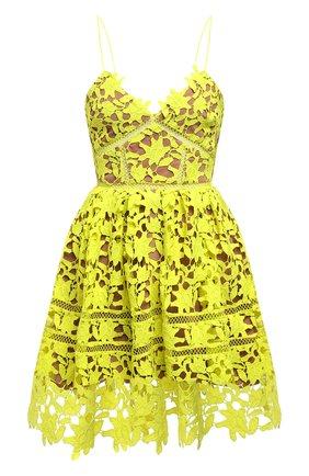 Женское платье SELF-PORTRAIT желтого цвета, арт. SS21-089G   Фото 1
