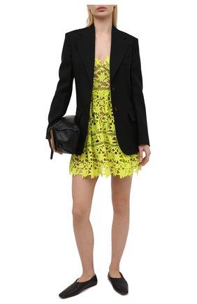 Женское платье SELF-PORTRAIT желтого цвета, арт. SS21-089G   Фото 2