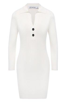 Женское платье SELF-PORTRAIT белого цвета, арт. SS21-084 | Фото 1