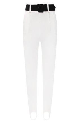 Женские брюки со штрипками SELF-PORTRAIT белого цвета, арт. SS21-083   Фото 1