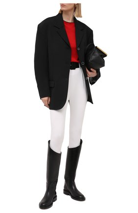Женские брюки со штрипками SELF-PORTRAIT белого цвета, арт. SS21-083   Фото 2