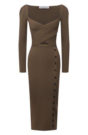 Женское платье SELF-PORTRAIT хаки цвета, арт. SS21-062D   Фото 1