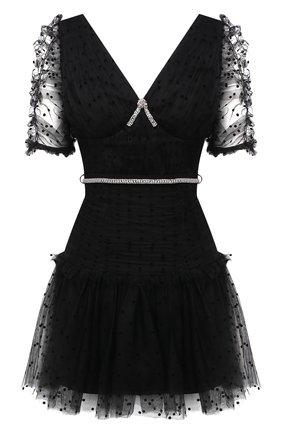 Женское платье SELF-PORTRAIT черного цвета, арт. SS21-041 | Фото 1