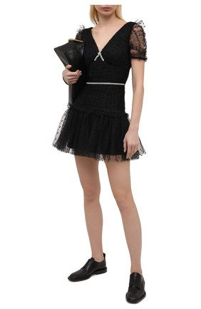 Женское платье SELF-PORTRAIT черного цвета, арт. SS21-041 | Фото 2