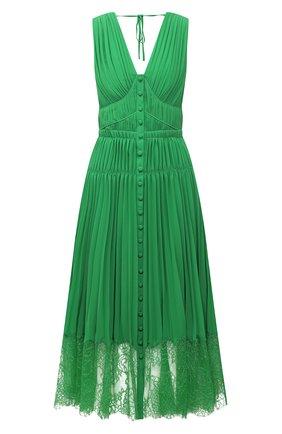 Женское платье SELF-PORTRAIT зеленого цвета, арт. SS21-036G | Фото 1