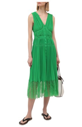 Женское платье SELF-PORTRAIT зеленого цвета, арт. SS21-036G | Фото 2