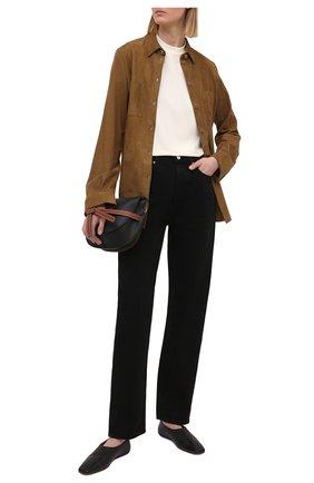 Женская замшевая рубашка DROME коричневого цвета, арт. DPD0398P/D714P | Фото 2