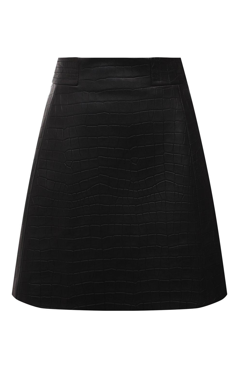 Женская кожаная юбка DROME черного цвета, арт. DPD1930P/D2010P   Фото 1