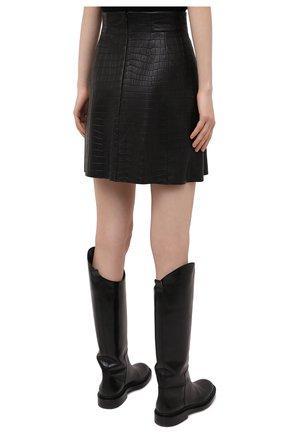 Женская кожаная юбка DROME черного цвета, арт. DPD1930P/D2010P   Фото 4