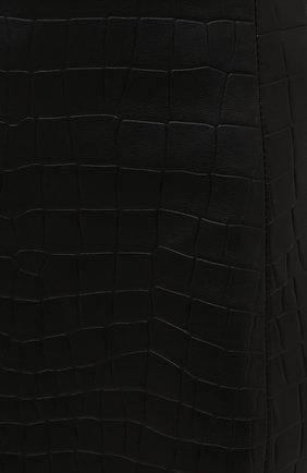 Женская кожаная юбка DROME черного цвета, арт. DPD1930P/D2010P   Фото 5