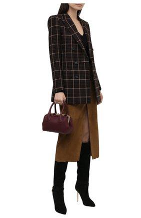 Женская замшевая юбка DROME коричневого цвета, арт. DPD7051P/D714P | Фото 2