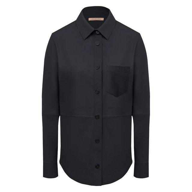 Кожаная рубашка Yves Salomon