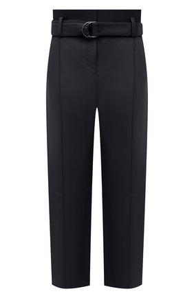 Женские кожаные брюки YVES SALOMON темно-синего цвета, арт. 21WYP205XXAPXX | Фото 1
