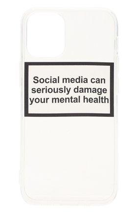 Чехол для iphone 12 mini MISHRABOO прозрачного цвета, арт. Social media 12 mini   Фото 1