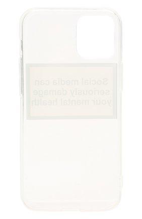 Чехол для iphone 12 mini MISHRABOO прозрачного цвета, арт. Social media 12 mini   Фото 2