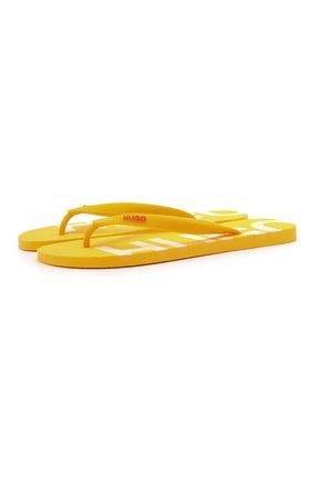 Мужские шлепанцы HUGO желтого цвета, арт. 50451987 | Фото 1