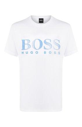 Мужская хлопковая футболка BOSS белого цвета, арт. 50407774   Фото 1