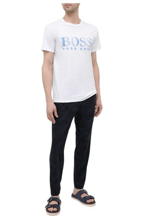 Мужская хлопковая футболка BOSS белого цвета, арт. 50407774   Фото 2