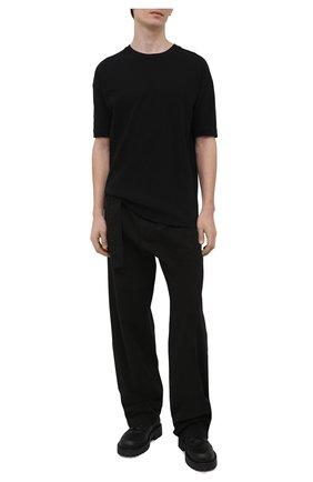 Мужская хлопковая футболка THOM KROM черного цвета, арт. M TS 533   Фото 2