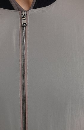 Мужской бомбер PAUL&SHARK серого цвета, арт. 21412441/ICR/3XL-6XL | Фото 5