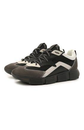 Мужские комбинированные кроссовки VIC MATIE черного цвета, арт. 1Z5902U.V04TZ6T281 | Фото 1 (Материал внутренний: Текстиль, Натуральная кожа; Материал внешний: Текстиль; Подошва: Массивная; Стили: Гранж)