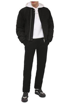 Мужские комбинированные кроссовки VIC MATIE черного цвета, арт. 1Z5902U.V04TZ6T281 | Фото 2 (Материал внутренний: Текстиль, Натуральная кожа; Материал внешний: Текстиль; Подошва: Массивная; Стили: Гранж)