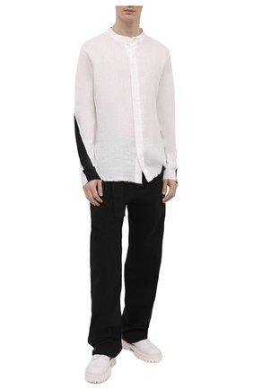 Мужские кожаные дерби VIC MATIE белого цвета, арт. 1Z5932U.Y02Y060102 | Фото 2 (Материал внутренний: Натуральная кожа; Стили: Классический)