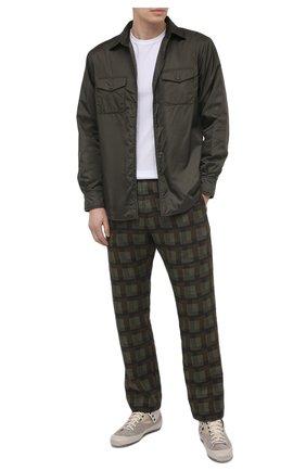 Мужские текстильные кеды RBRSL бежевого цвета, арт. 7Z2046U.Z40TZNTE63 | Фото 2