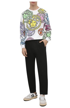 Мужской хлопковый свитшот VERSACE разноцветного цвета, арт. A77278/1F00722 | Фото 2
