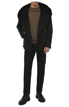 Мужской шерстяной бушлат BALMAIN черного цвета, арт. VH0UA005/W065 | Фото 2