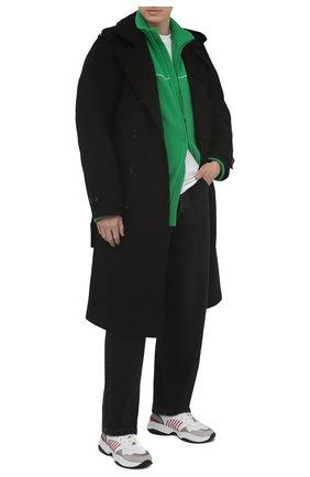 Мужские комбинированные кроссовки d24 DSQUARED2 белого цвета, арт. SNM0097 01503804 | Фото 2 (Материал внутренний: Текстиль, Натуральная кожа; Подошва: Массивная; Стили: Гранж)