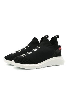 Мужские текстильные кроссовки speedster DSQUARED2 черного цвета, арт. SNM0158 59203961 | Фото 1