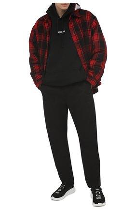 Мужские текстильные кроссовки speedster DSQUARED2 черного цвета, арт. SNM0158 59203961 | Фото 2
