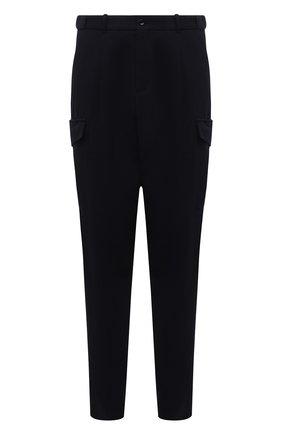 Мужские шерстяные брюки-карго GIORGIO ARMANI темно-синего цвета, арт. 1SGPP0GU/T02EN | Фото 1