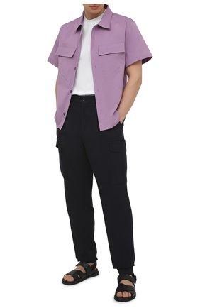 Мужские шерстяные брюки-карго GIORGIO ARMANI темно-синего цвета, арт. 1SGPP0GU/T02EN | Фото 2