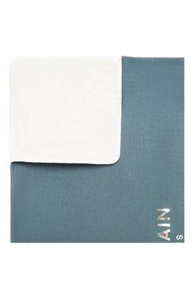 Детского хлопковое одеяло BALMAIN синего цвета, арт. 6O0810   Фото 1