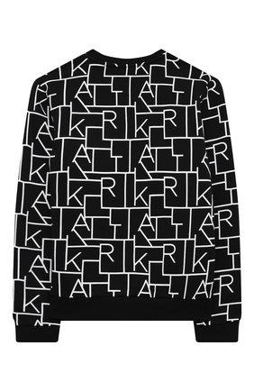 Детский хлопковый свитшот KARL LAGERFELD KIDS черного цвета, арт. Z25292   Фото 2
