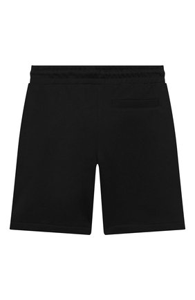 Детские хлопковые шорты KARL LAGERFELD KIDS черного цвета, арт. Z24109   Фото 2