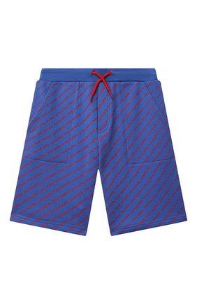 Детские хлопковые шорты MARC JACOBS (THE) синего цвета, арт. W24231   Фото 1