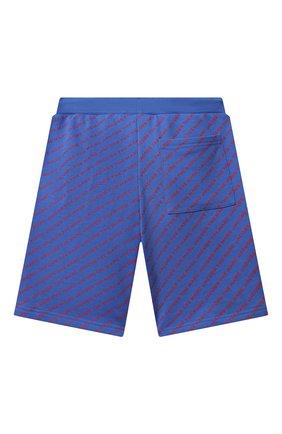 Детские хлопковые шорты MARC JACOBS (THE) синего цвета, арт. W24231   Фото 2