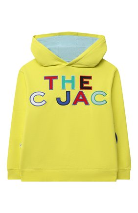 Детский хлопковое худи MARC JACOBS (THE) желтого цвета, арт. W25482 | Фото 1